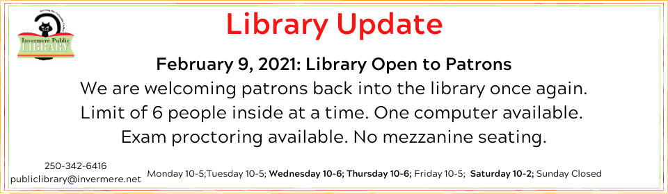 Feb. 9 Library Update